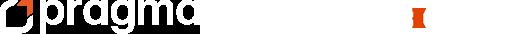 Pragmaworld white horizontal logo