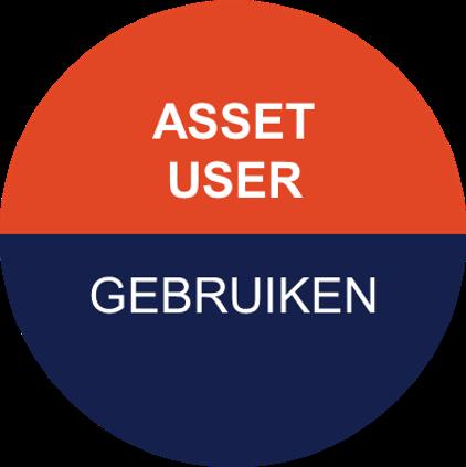Icoon van Pragma voor asset user - de gebruiker van de assets