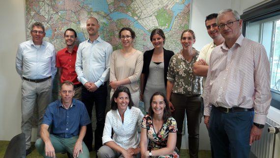 Groepsfoto van projectteam case study HDSR voor ROBAMCI