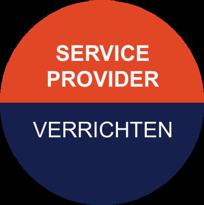 Icoon van Pragma voor service provider - voor het verrichten van werkzaamheden ten aanzien van assets