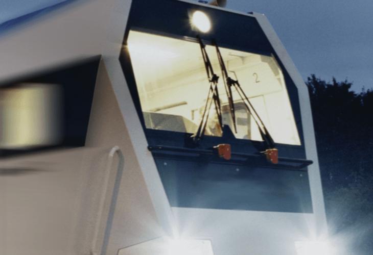 Ruitenwissersysteem van Exalto op trein